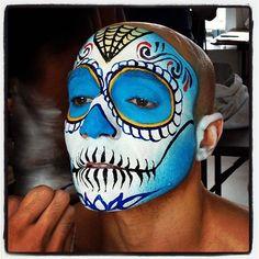 dia de los muertos face paint face paint for dia de los muertos by dia de los muertos face paint pinterest muertos paint and for - Mexican Halloween Skulls
