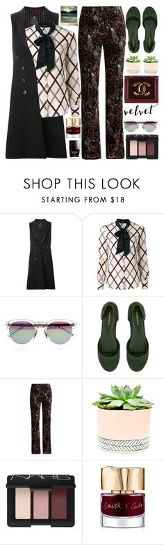 """Crushing It: Summer to Fall Velvet"" by barbarela11 ❤ liked on Polyvore featuring Loveless, rag & bone, Roberto Cavalli, Hostess, Chanel, Polaroid, NARS Cosmetics and Smith & Cult"