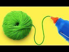 DIY: Wohn & Deko Idee, edles Wandbild aus Butterbrotpapier- Rosen (How to) / Deko Jana Yarn Crafts, Diy And Crafts, Sewing Hacks, Paper Art, Upcycle, Things To Come, Bows, How To Make, Youtube