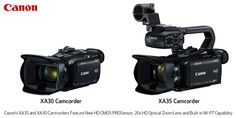Canon's New XA35 and XA30 Full HD Professional Compact Camcorders Feature New HD CMOS PROSensor, 20x HD Optical Zoom Lens, Improved Low-Light Image Capture, Highlight Priority Mode, Wide DR (Dynamic Range) Mode, & Built-in Wi-Fi® Capability