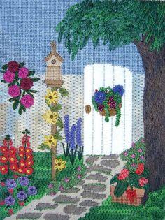 The Garden Gate Needlepoint by Meredith Willett