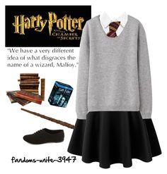 Harry Potter Marathon by fandoms-unite-3947 on Polyvore featuring moda, Uniqlo, Alice + Olivia, LE3NO and Charlotte Russe