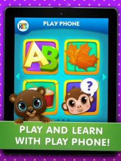 Kid's Play Phone: fun activities for kids - a set of 12 educational mini-games (letters, shapes, colors, sounds, animals, numbers etc). Original Appysmarts score: 84/100