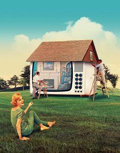 Maison Magazine - Julien Pacaud • Illustration • Perpendicular Dreams