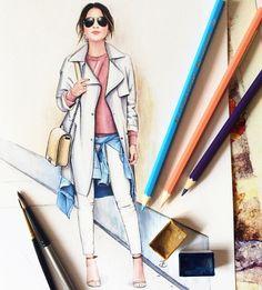 Street style fashion illustration @dustymemories