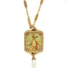 New John Wind MAXIMAL ART Easter Bunny Gold Necklace Jewelry #MaximalArt #Pendant