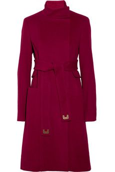 DIANE VON FURSTENBERG  Sabrina belted wool and cashmere-blend coat