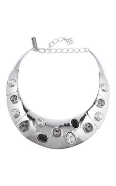 Multi Crystal Stone Necklace - Oscar de la Renta Resort 2016 - Preorder now on Moda Operandi