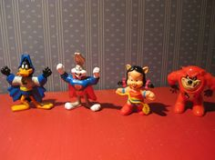 Super Looney Tunes Vintage McDonalds Happy Meal Toy Set