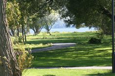 View of Bay of Quinte from Bain Park in Trenton Ontario.