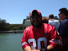 visiting Alcatraz with my Jerry Rice Jersey