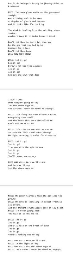 My Solangelo Parody of Let it Go... (Poetry Robot) OMG light and dark YES
