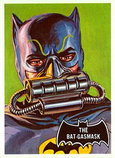 1966 Batman Black Bat Card No.43 The Bat-Gasmask | Flickr - Photo Sharing!