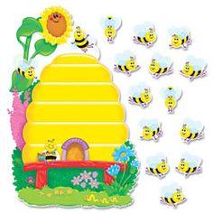 Trend Busy Bees Job Chart Plus Bulletin Board Set 18 x 17 Color: Multi-Colored. Trend Busy Bees Job Chart Plus Bulletin Board Set 18 x 17 Multi-Colored Teacher Classroom Supplies, Preschool Classroom, Classroom Themes, Job Chart, Math Tools, Bulletins, Alphabet For Kids, Busy Bee, Creative Activities