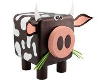 This Site Has A Ton Of Crafts You Can Do Using Common Household Items Cow