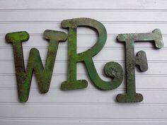 Initial Wall Letters  Painted Wall Initials by HappyMooseGardenArt