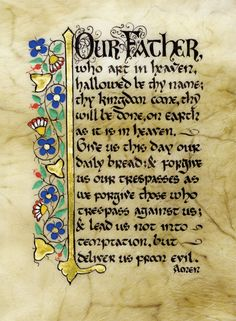 Celtic Card Company presents the illustrated manuscripts of artist Kevin Dillon Illuminated Letters, Illuminated Manuscript, Prayer Cards, Lord's Prayer, Catholic Religion, Irish Quotes, The Good Shepherd, Card Companies, Irish Art