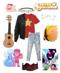 """""""Steven Universe"""" by pk2200 on Polyvore featuring Cartoon Network, Impulse, Dr. Martens and LE3NO"""
