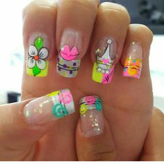 Vɨʋɨaռa Fingernail Designs, Long Nail Designs, Nail Polish Designs, Nail Art Designs, Great Nails, Cool Nail Art, Love Nails, Cc Nails, Nails 2017