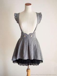 Secret Honey 2Way Mermaid tail Tweed JSK Jumper Dress Sweet Lolita Kawaii Japan #SecretHoney #JSKJumperdressBubblePeplumTunic #Shibuya109Lolitafashion