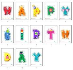 잇님들~^^* 안녕하세요 :) 즐거운 월요일 보내고 계신가요? ♥ 연이은 가뭄에 걱정이었는데 지난주말 비가 ... Printable Birthday Banner, Printable Banner Letters, Printable Stickers, Birthday Invitations, Bunny Birthday, Birthday Board, Birthday Wishes, Happy Birthday, Birthday Party Design