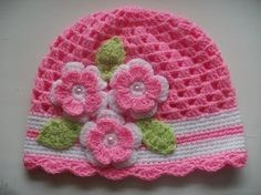Super Ideas For Crochet Bebe Gorros Crochet Cap, Crochet Girls, Crochet Gloves, Newborn Crochet, Crochet Baby Hats, Crochet Beanie, Love Crochet, Baby Knitting, Finger Knitting Projects