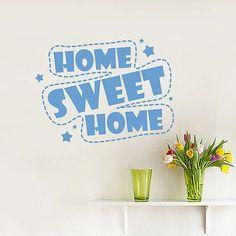 Wall Decals Quote Home Sweet Home Star Living Room Vinyl Sticker Bedroom DA3758