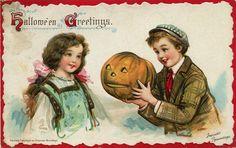 Halloween greetings! #vintage #Halloween #postcards #cards