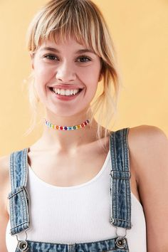 Andie Beaded Flower Choker Necklace
