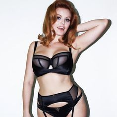 Channel that inner fierce in our luxurious boudoir brand - play some Peek A Boo with @dearscantilly  #lingerie #boudoir #balconybra #black #sheer #suspender #curves #curvy #plusbust #scantillyclad #thenewsexy