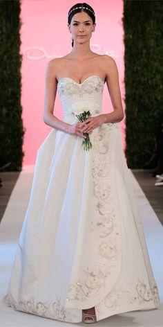 Oscar de la Renta's Spring 2015 Bridal Collection - Oscar de la Renta from #InStyle