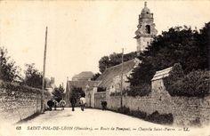 Route de Pempoul. Chapelle Saint-Pierre. Saint-Pol-de-Léon, Finistère.