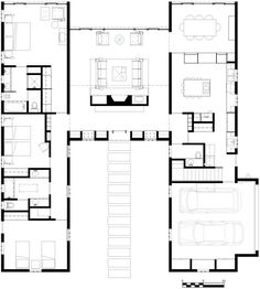 The 1998 life magazine dream house — jacobsen architecture, llc Dream House Plans, Modern House Plans, House Floor Plans, Architecture Plan, Architecture Details, The Plan, How To Plan, Shipping Container House Plans, Modern Farmhouse Exterior