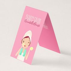 Beauty Girl Cleaning Face Business Card - stylist business card business cards cyo stylists customize personalize
