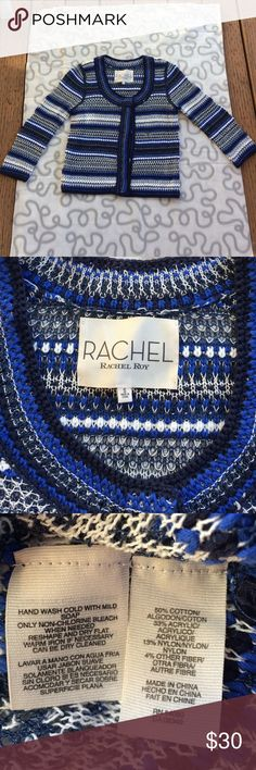 "RACHEL ROY cardigan sweater RACHEL ROY cardigan knit sweater / size small / pit to pit 16"" length 20"" RACHEL Rachel Roy Sweaters Cardigans"