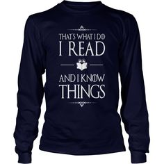 Reading - I Read And I Know Things- Funny Book R - Unisex Tri-Blend T-Shirt by American Apparel  #gift #ideas #Popular #Everything #Videos #Shop #Animals #pets #Architecture #Art #Cars #motorcycles #Celebrities #DIY #crafts #Design #Education #Entertainment #Food #drink #Gardening #Geek #Hair #beauty #Health #fitness #History #Holidays #events #Home decor #Humor #Illustrations #posters #Kids #parenting #Men #Outdoors #Photography #Products #Quotes #Science #nature #Sports #Tattoos…