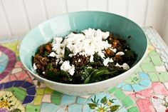 Smokey maple lentil salad with butternut squash