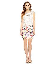 As U Wish FloralPrint Lace Sheath #Dillards