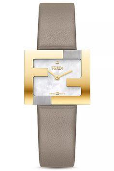 Amazing offer on Fendi Fendimania Diamond Leather Strap Watch, x online - Alltoclothing Brand Name Watches, Top Luxury Brands, Nordstrom Gifts, Mesh Bracelet, Stainless Steel Case, Luxury Branding, Fendi, Beige, Diamond