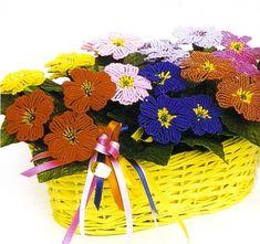 Primrose beaded flowers