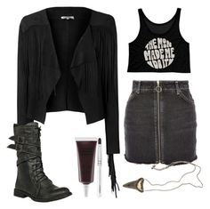 """""""Untitled #805"""" by no0ne ❤ liked on Polyvore featuring Glamorous, Topshop and Obsessive Compulsive Cosmetics"""