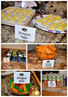 How to Train Your Dragon party food                                                                                                                                                      More