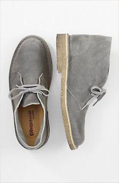 grey suede desert boot