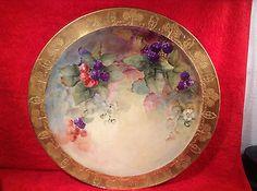 Fabulous Large Antique JPL Limoges Hand Painted Wall Plaque Platter C 1890 L243   eBay