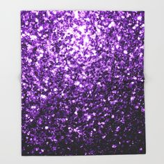 20% Off + Free Shipping on everything Today! Beautiful Purple glitter sparkles throw blanket by #PLdesign #sparkles #PurpleSparkles #SparklesGift
