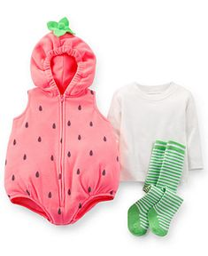 Carter's Baby Girls' 3-Piece Strawberry Costume Set - Kids Baby Girl (0-24 months) - Macy's