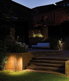 Garden Path Lighting Solutions from Vibia - Vibia Garden Path Lighting, Deck Lighting, Exterior Lighting, Landscape Lighting, Lighting Design, Lighting Ideas, Outdoor Floor Lamps, Outdoor Light Fixtures, Outdoor Flooring