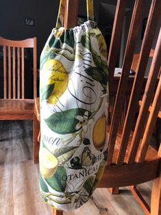 Bag Bags grocery bag storage Lemons Peaches   Etsy Grocery Bag Storage, Overlock Machine, Peaches, Cotton Fabric, Lemon, Bags, Etsy, Home Decor, Handbags