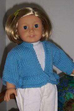 "Ravelry: Ruffled Edge Cardigan or Jacket fits 18"" dolls pattern by Janice Helge"