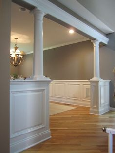 half walls with pillars | half wall with columns - Bolton CT